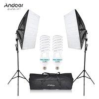 Andoer Fotografie Studio Cube Regenschirm Softbox Licht Beleuchtung Zelt Kit 2 * 135W Birne 2 * Stativständer 2 * Softbox 1 * Tasche