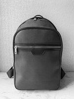 2020 أعلى جودة حقيبة العلامة التجارية مصمم حمل على حقيبة الظهر رجل الأزياء حقيبة مدرسية حقيبة سفر فاخرة، أسود