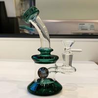 """6.7 """"Glass Bong Tubos de agua Cachimbas Coloridas Bongs DOUSEY Mini Pipe Dab Rigs Pequeña plataforma de aceite de burbujeador"""