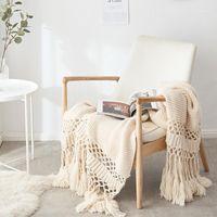 40BLANKETSETS для кроватей вязаное диван одеяло фото реквизит кисточка взвешенное одеяло кондиционер коренастый knit1