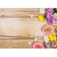 Foto sfondo colorato fiori bordo in legno sfondo personalizzato per bambini neonato bambino amanti della fotografia puntelli Photofono1