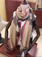 Nova alta qualidade lady clássico outono / inverno cashmere lenço clássico carta cachecol xale tamanho 180 * 70cm lenço sem