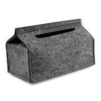 صناديق الأنسجة المناديل الأزياء ورقة ضخ ساحة تخزين بسيط الصلبة الصوف المنزلية الصوف فيلت سيارة مربع منشفة علبة حاوية