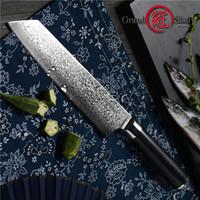 Grandsharp 8,2 cm VG10 Damaskus Stahl Japanische Küchenmesser G10 Griff Rasierer Sharp Japaner Damaskus Blade Chefmesser Mit Geschenkbox