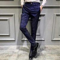 Erkekler Takım Elbise Pantolon 2020 Bahar Sosyal Pantolon Erkek Parfüm Elbise Slim Fit Rahat Ofis Pantolon1