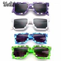 10pcs / lot Kids Sunglasses de petite taille Petite taille Cos Jouer Action Jeu Jouets Jouets Lunettes de soleil Mosaïque Garçons Filles Enfants Pixel Eyewares1