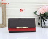 Bolsas vermelhas wallet mulheres flip wallet zipper saco feminino flor carteira bolsa cartão de moda titular bolso longo saco de mulheres com caixa