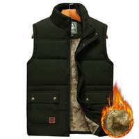 الرجال حجم كبير حجم الشتاء سترة سترة أكمام معطف الفرو الأزياء كبيرة الحجم 8xl الذكور الدافئة صدرية الصوف سترة الرجال 201119