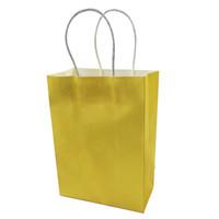 حقيبة صغيرة كرافت ورقة هدية حقيبة ديي متعددة الوظائف لينة ورقة حقيبة مع مقابض 21x15x8cm كيس هدية مهرجان EEF3567