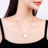 Chokers Collar de corazón de acero inoxidable Color de plata de oro Simple Silvery Gargantilla para mujeres Accesorios de joyería colgantes 20211