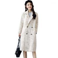 Frauen Wollmischungen Mantel Herbst und Winter Damenmode Mode Wolle Weibliche Lange Sektion Lose Temperament Zweireiher Frauen1