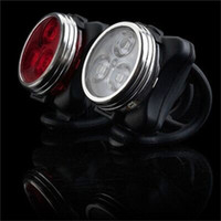 Luzes de bicicleta redonda brilham vermelho branco usb carga taillight bicicleta ao ar livre lâmpada traseira 3 LED fácil instalar preto 8xq o2