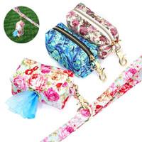 휴대용 개 훈련 스낵 가방 패션 인쇄 된 야외 개 여행 스낵 휘파람 키 쓰레기 가방에 대 한 여행 가방 애완 동물 sqcejh