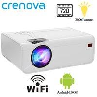 Projektörler Crenova Mini LED Projektör A13 (Android İsteğe Bağlı A13C) 1280 * 720 P Wifi Bluetooth 3D Video Desteği ile 4 K Ev Sinema1