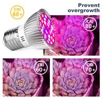 최고의 phyto 램프 전체 스펙트럼 E27 LED 식물 빛 자라는 램프 E14 식물에 대 한 LED 18W 28W FOTOLAPPY 온실 텐트 전구 UV 도매