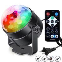 Mini RGB LED Kristal Sihirli Top Kademesi Etkisi Aydınlatma Lambası Ampul Parti Disko Noel Partisi Kulübü Projektör Için Uzaktan Kumanda ile