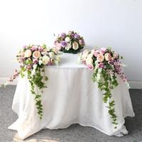 Düğün çiçek aranjmanı masa centerpieces gelin buketi karşılama alanı dekor yapay çiçek satır sahne düğün arch1