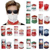 Christmas Face Shield sin fisuras magia turbante 3d impresión al aire libre deportes en mascarilla cuello bufanda navidad cara mascarilla xD24221
