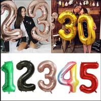 """40 Inç Büyük Folyo Numarası Balonlar 40 """"Dev Büyük Balon 0-9 Sayılar Şamandıra Topu 2021 Mutlu Doğum Günü Partisi Düğün Yeni Yıl Dekor E122301"""