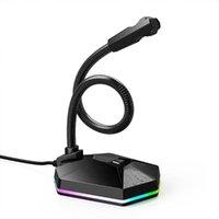 ميكروفون USB لجهاز كمبيوتر محمول قابل للتدوير مرنة المهنية MIC ل YouTube Skype تسجيل البث صوت Podcasting