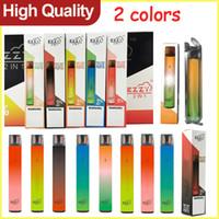 Ezzy 2in1 2000Puffs 일회용 vape 펜 장치 더블 컬러 6ml 사전 채워진 증기 포드 휴대용 기화기 전자 담배