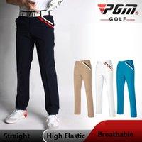 PGM Sportswear Calças de golfe Homens Alta Elastic Elastic Spathable Calças de Golfe Roupas Ténis Ténis Comprimento Completo Inverno Calças de Outono Q1201