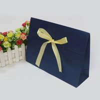 Regalo Wrap 20 Pack Pack Bags con Bow Ribbon Deluxe Sciarpa Guanti Cappelli Gioielli Box Carrier Bag Party Favore Treat Birthday Wed