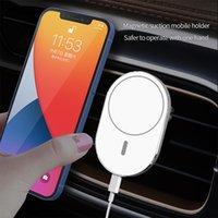 Chargeurs de haute qualité pour téléphones portables Chargeurs sans fil rapide pour iPhone 12 Magsafe Magnet Mount de voiture 15W Chargeur à induction Type-C