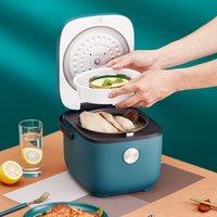 220 فولت 2.5l طباخ الأرز الكهربائية التلقائي متعدد الطباخ 400 واط مصغرة وعاء الطبخ المحمولة مع توقيت الحجز 2 طبقات باخرة