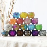 Portacandele Centrotavola Centrotavola Mosaico Vetro Tealight Supporti per la casa Decor Tabella Decorazioni per feste di Natale Candela Lanter KKA8307