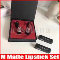 Matin de maquillage m lèvres 2pcs / set lustre mate lustre rouge Rouge A Levres Love Kit lèvre mat