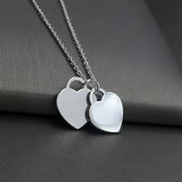 TF Real 925 Sterling Silver Origina classica Collana di lusso collana di lusso gioielli squisita artigianato con logo ufficiale Classic Blue Heart