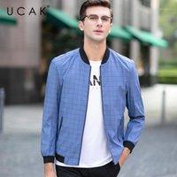 Giacche da uomo Ucak Brand Uomo Abbigliamento Streetwear Vestiti Giacca Fashion Plaid Blouson Homme Casual Primavera Arrivo Zipper Cappotto U80751