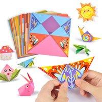 54pcs / Set Bambino artigianale giocattoli dei cartoni animati animale origami carta da taglio libro bambini taglio puzzle precoce apprendimento precoce giocattoli educativi regali