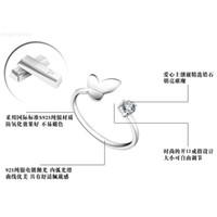 Кольца новые 925 дельфинов стерлингового серебра драгоценно драгоценно крылья ангела любовь лиса бабочка, открывающее регулируемое кольцо для женщин
