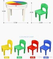 6шт блоки сборочные дети мини и стул ABC пластиковые 02 игрушки DIY детские игры детский сад здание WWQGQ