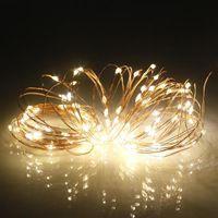 10 متر 100 المصابيح للماء usb النحاس سلسلة ضوء سلك عيد الميلاد الديكور حديقة كورتيارد