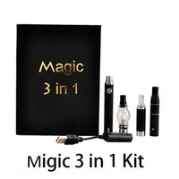 Best Selling Wax Pen Magic 3 in 1 Kit di avviamento sigaretta elettronico con vaporizzatore di cera fa MT3 Glass Globle Atomizzatore Atomizzatore Evod Batteria