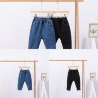 DD4T7 INS Ripped Denim Boys Add velvet Keep warm Pants Shorts Fashion child clothe jeans Denim Jeans Clothing Kids Designer Casual Jeans