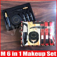 M makeup look in a box set matte lipsticks eyeliner mascara 6 in 1 with box Lips cosmetics kit