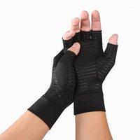 خمسة أصابع قفازات وصول الشتاء النساء نصف فنجر مخطط القفازات بلون زائد المخملية قفاز للسيدات guantes موهير invierno1