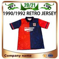 90/92 Retro Cagliari Calcio Jersey 199/1992 Home Joao Pedro Simeone Nainggolan Godin Futebol Camisa Futebol Vermelho Uniformes