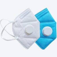 KN95 Masken Fabrik 95% Filter Gesichtsmaske Bunte Aktivkohle Atmungsmaske Ventil 5 Schicht Mund Facemask