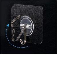 Двухсторонние клейки настенные крюки прозрачные крючки на стене самоклеящийся крюк для кухни ванная комната присоска SUC WMTZGA