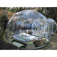 Tentes et abris tente d'arbre de bulle gonflable, salle de spectacle gonflable maison family couragers de camping Tentes de camping, 0.45mm PVC Carpas de 4 personnages