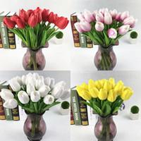 Yapay Çiçekler Mini Lale İpek Yapay Çiçekler Düğün Dekorasyon Yapay Çiçekler Buket Ev Bahçe Dekor Lale Hediye 5 J2