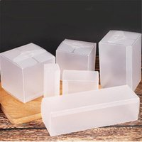 Подарочная упаковка матовый четкий квадрат ПВХ коробка прозрачная пластиковая коробка свадебные конфеты Party поставляет ювелирные изделия упаковки 10 шт.