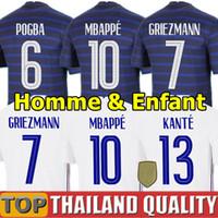 France Франция футбольные майки 2020 UEFA EURO 100 лет новые чемпионы мира по футболу 2018 года GRIEZMANN MBAPPE ПОГБА КАНТЕ ЖИРУ мужчины женщины детский комплект единообразный