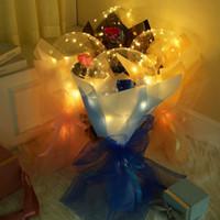 Dia dos namorados LED balões luz luminosa bobo bola balão piscando luz rosa bouquet amante presentes para aniversário festa de casamento E121802