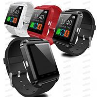 Bluetooth U8 Smartwatch Wrist Watches Touch Screen para Samsung S8 Android Telefone Dormindo Monitor Smart Watch Wristbands com pacote de varejo